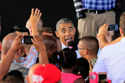 President Barack Obama, after visit to Madrid, has shortly visited the naval base in Rota, Cadiz, Andalusia, before he left back to USA. July 10, 2016. Photo by Almagro/ABACAPRESS.COM  | 554832_004 Naval Base in Rota, Cadiz Espagne Spain