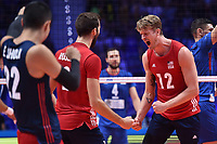 Celebration Maxwell Holt of USA<br /> Torino 30-09-2018 Pala Alpitour <br /> FIVB Volleyball Men's World Championship <br /> Pallavolo Campionati del Mondo Uomini <br /> Finals / 3th place<br /> Serbia - USA  <br /> Foto Antonietta Baldassarre / Insidefoto