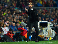 BARCELONA, SPAIN - NOVEMBER 29: Josep Guardiola of Barcelona during the La Liga match between Barcelona and Real Madrid at the Camp Nou Stadium on November 29, 2010 in Barcelona, Spain. (Photo by Manuel Queimadelos/DPPI)