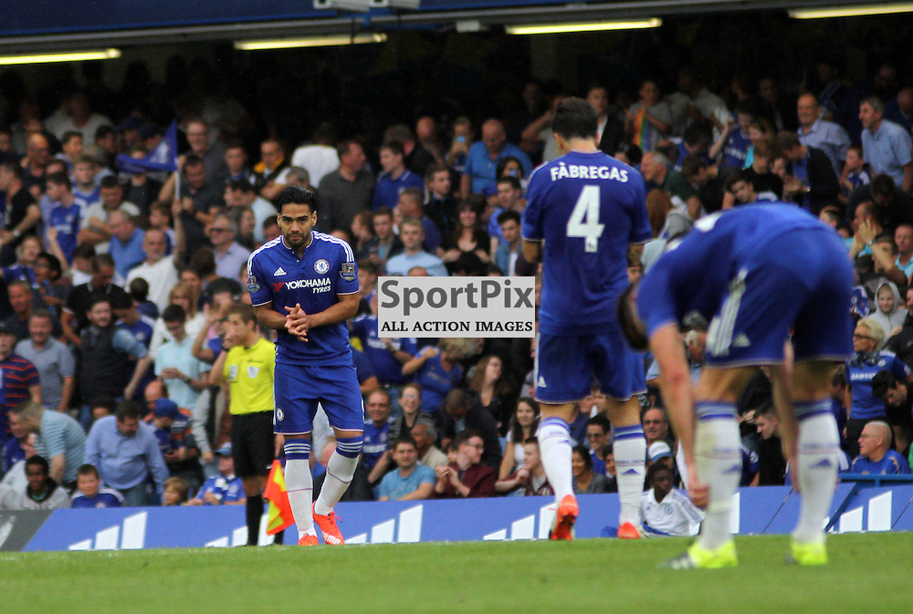 Falcao claps in encouragement During Chelsea vs Crystal Palace on Saturday the 29th August 2015
