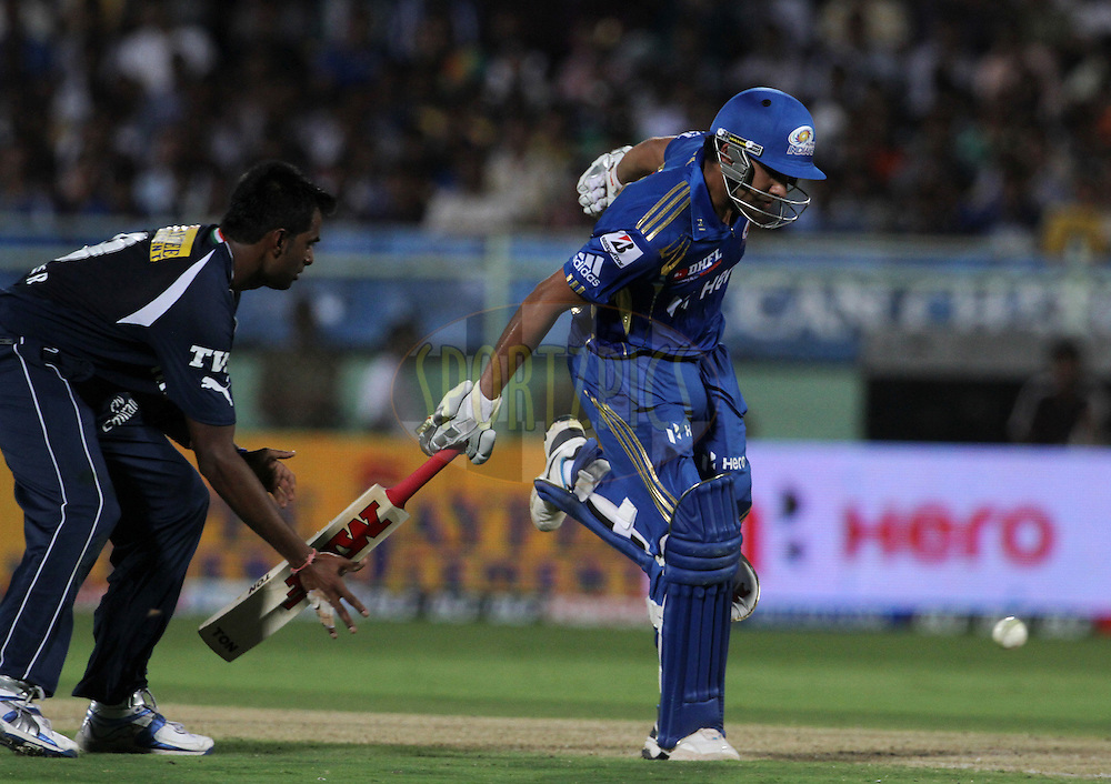 Mumbai Indian player Rohit Sharma takes a run during match 9 of the the Indian Premier League ( IPL) 2012  between The Deccan Chargers and the Mumbai Indians held at the ACA-VDCA Stadium, Visakhapatnam on the 9th April 2012..Photo by Vipin Pawar/IPL/SPORTZPICS