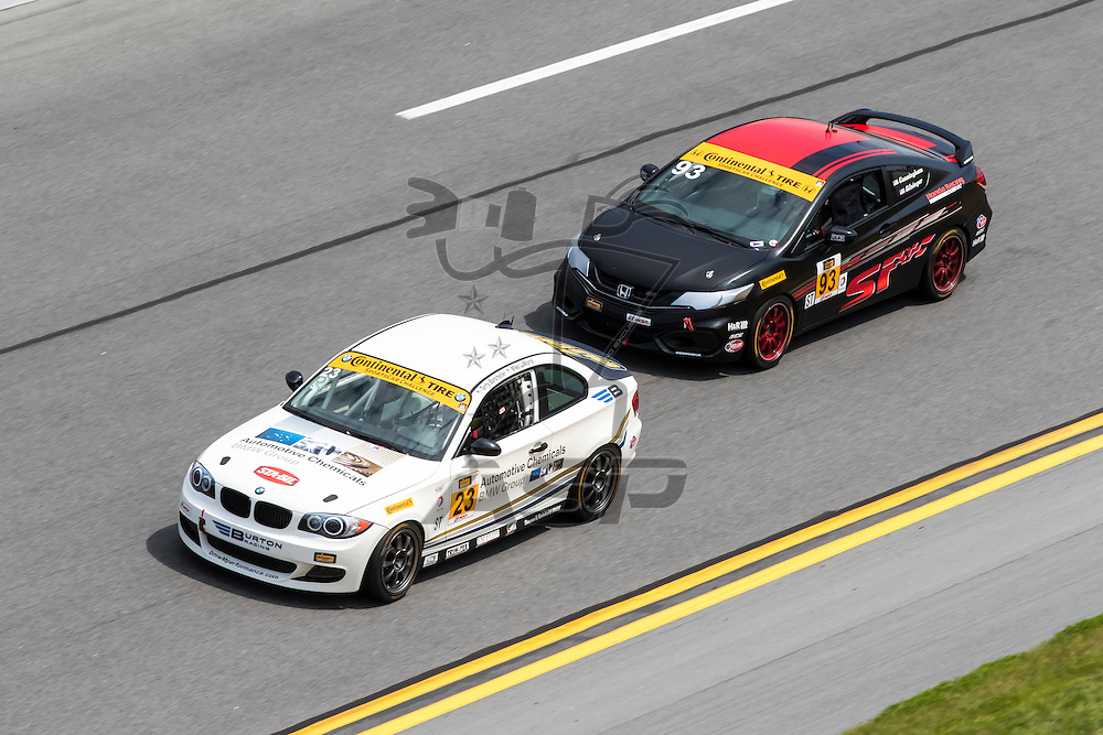 Daytona Beach, FL - Jan 22, 2015:  The Continental Tire Sports Car Challenge teams take to the track on Continental tires for a practice session for the BMW Performance 200 at Daytona International Speedway in Daytona Beach, FL.