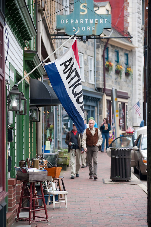 Antique shop in Ellicot City, Maryland's historic district