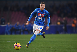 February 17, 2019 - Naples, Naples, Italy - Piotr Zielinski of SSC Napoli during the Serie A TIM match between SSC Napoli and FC Torino at Stadio San Paolo Naples Italy on 17 February 2019. (Credit Image: © Franco Romano/NurPhoto via ZUMA Press)