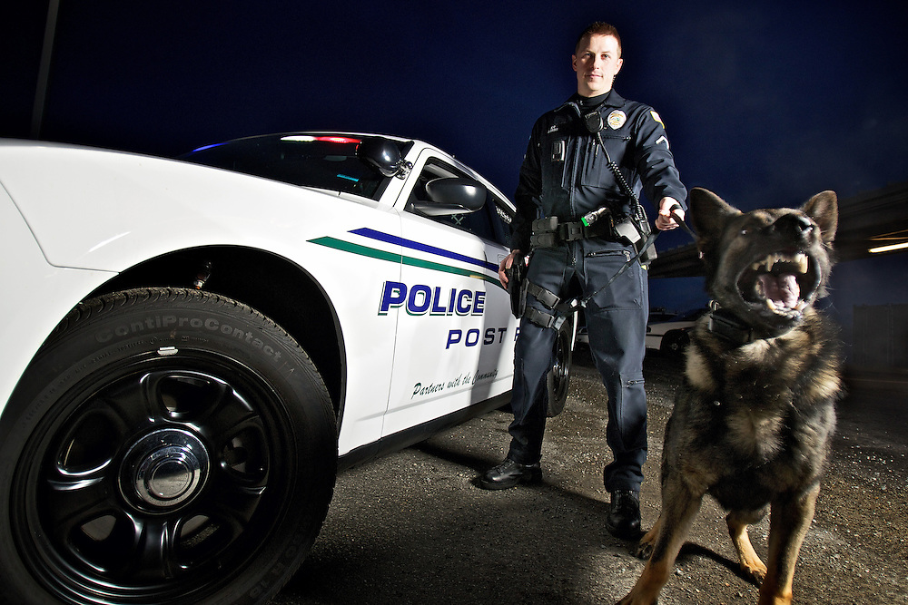 Post Falls Police officer Jason Hunt and his partner Andor completed a police K-9 training course held in southern California last year and have been patrolling the city as well as assisting other agencies.