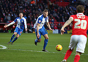 Blackburn Rovers striker, Jordan Rhodes (11) lining up a shot during the Sky Bet Championship match between Charlton Athletic and Blackburn Rovers at The Valley, London, England on 23 January 2016. Photo by Matthew Redman.