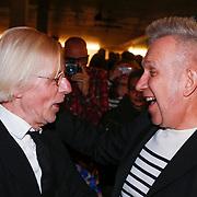NLD/Rotterdam/20130209 - De Franse modeontwerper Jean Paul Gaultier opent zijn tentoonstelling in de Kunsthal Rotterdam, Jean Paul Gaultier en ????..