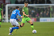 Forest Green Rovers Liam Shephard(2) runs forward during the EFL Sky Bet League 2 match between Forest Green Rovers and Macclesfield Town at the New Lawn, Forest Green, United Kingdom on 29 December 2019.