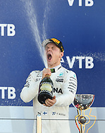 Valtteri Bottas of Mercedes AMG Petronas celebrates winning the Russian Formula One Grand Prix at Sochi Autodrom, Sochi, Russia.<br /> Picture by EXPA Pictures/Focus Images Ltd 07814482222<br /> 30/04/2017<br /> *** UK & IRELAND ONLY ***<br /> <br /> EXPA-EIB-170430-0227.jpg