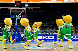 Mascots Amberis during final basketball game between National basketball teams of Spain and France at FIBA Europe Eurobasket Lithuania 2011, on September 18, 2011, in Arena Zalgirio, Kaunas, Lithuania. (Photo by Vid Ponikvar / Sportida)