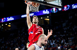 Ognjen Kuzmic of Serbia during basketball match between National Teams of Italy and Serbia at Day 14 in Round of 16 of the FIBA EuroBasket 2017 at Sinan Erdem Dome in Istanbul, Turkey on September 13, 2017. Photo by Vid Ponikvar / Sportida
