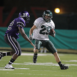 07 November 2008:  Ponchatoula Green Wave Ben Schaff (#29) The Ponchatoula Green Wave defeated District 7-5A rival the Hammond Tornados 34-13 at Strawberry Stadium in Hammond, LA . The Green Wave with the win clinched a spot in the 2008 playoffs.