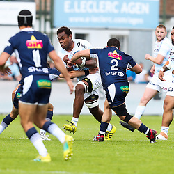 Leone Nakarawa of Racing 92 during the Top 14 match between Agen and Racing 92 Stade Armandie on May 25, 2019 in Agen, France. (Photo by Manuel Blondeau/Icon Sport) - Leone NAKARAWA - Paris (France)
