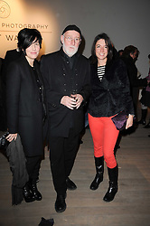 Left to right, SHARLEEN SPITERI, ALBERT WATSON and MARY McCARTNEY at a private view of Masters of Photography - A Journey presented by Macallan and Albert Watson held at Philips De Pury, Howick Place, London SW1 on 1st December 2010.