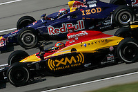 Bryan Herta and Alex Barron at the Kentucky Speedway, Kentucky Indy 300, August 14, 2005