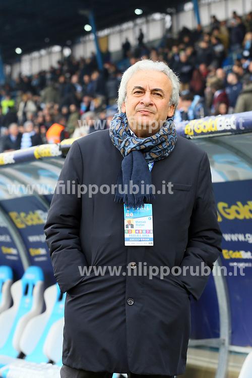 """Foto Filippo Rubin<br /> 06/01/2018 Ferrara (Italia)<br /> Sport Calcio<br /> Spal - Lazio - Campionato di calcio Serie A 2017/2018 - Stadio """"Paolo Mazza""""<br /> Nella foto: WALTER MATTIOLI (PRESIDENTE SPAL)<br /> <br /> Photo by Filippo Rubin<br /> January 06, 2018 Ferrara (Italy)<br /> Sport Soccer<br /> Spal vs Lazio - Italian Football Championship League A 2017/2018 - """"Paolo Mazza"""" Stadium <br /> In the pic: WALTER MATTIOLI (SPAL)"""