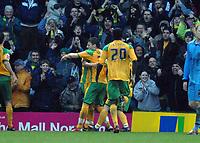 Photo: Ashley Pickering.<br />Norwich City v Coventry City. Coca Cola Championship. 24/02/2007.<br />Chris Martin of Norwich (L) celebrates his equaliser