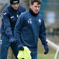 St Johnstone Training…19.02.16<br />Danny Swanson pictured during training this morning at McDiarmid Park<br />Picture by Graeme Hart.<br />Copyright Perthshire Picture Agency<br />Tel: 01738 623350  Mobile: 07990 594431