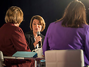 15 JULY 2019 - DES MOINES, IOWA: Senator AMY KLOBUCHAR (D-MN) speaks at the first AARP Presidential Candidate Forum in Des Moines. The forum featured Senator Cory Booker, Governor John Hickenlooper, Senator Amy Klobuchar and Vice President Joe Biden. The AARP is hosting other forums for the rest of the Democratic field in other towns in Iowa this week. Iowa hosts the first event of the 2020 Presidential election cycle. The Iowa Caucuses are on February 3, 2020.       PHOTO BY JACK KURTZ