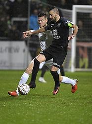 December 23, 2018 - France - Rubin Seigers midfielder of Genk and Luis Garcia Fernandez midfielder of Eupen (Credit Image: © Panoramic via ZUMA Press)