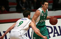 John Thomas Sorrentine of Krka at basketball game Zlatorog Lasko - Krka in in the first match of quarter-final of Spar Cup, on February 7, 2008 in Ljubljana, Slovenia.   (Photo by Vid Ponikvar / Sportal Images).