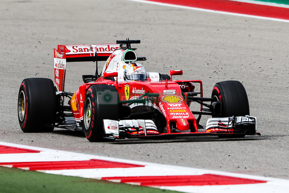 October 23, 2016 - Austin, Texas, U.S - Ferrari driver Sebastian Vettel (5) of Germany in action during the race at the Circuit of the Americas race track in Austin,Texas. (Credit Image: © Dan Wozniak via ZUMA Wire)