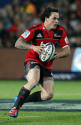 Crusaders' Zac Guildford in action against the Chiefs in a Super Rugby match, Waikato Stadium, Hamilton, New Zealand, Friday, July 06, 2012.  Credit:SNPA / David Rowland