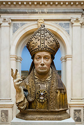 Reliquary Bust of a Saint Bishop, Brussels at Bode Museum on Museumsinsel, Berlin, Germany
