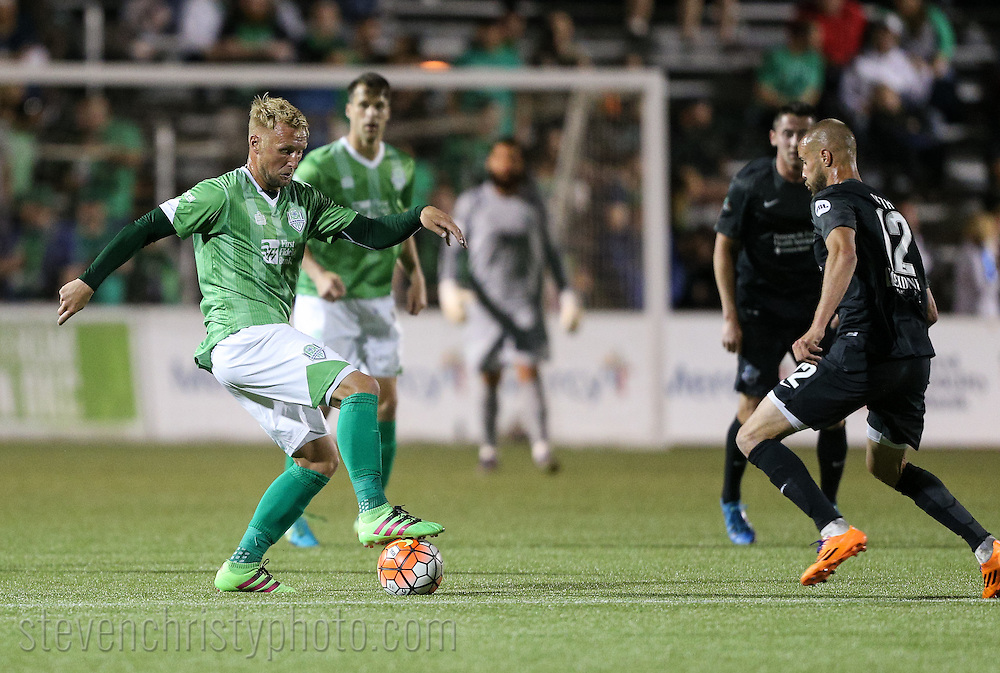 March 26, 2016: The OKC Energy FC plays the Colorado Springs Switchbacks FC in a USL game at Taft Stadium in Oklahoma City, Oklahoma.