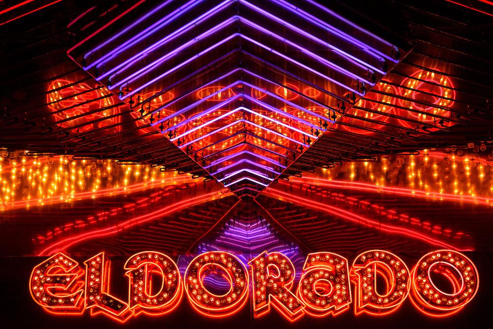 USA, Nevada, Reno, Eldorado Casino neon