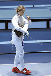 02.08.2012, ExCeL Exhibition Centre, London, GBR, Olympia 2012, Fechten, im Bild Valentina VEZZALI // during fencing, at the 2012 Summer Olympics at ExCeL Exhibition Centre, London, United Kingdom on 2012/08/02. EXPA Pictures © 2012, PhotoCredit: EXPA/ Insidefoto/ Giovanni Minozzi    ATTENTION - for AUT, SLO, CRO, SRB, SUI and SWE only *****