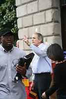 Religious preacher on Henry Street in Dublin Ireland