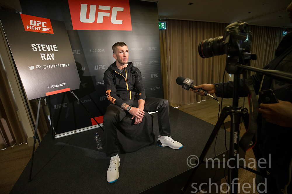 Scot Stevie Ray – UFC lightweight. UFC FIGHT NIGHT: ULTIMATE MEDIA DAY, Castle, Crowne Plaza Glasgow,