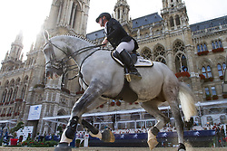 23.09.2012, Rathausplatz, Wien, AUT, Global Champions Tour, Vienna Masters, Grosser Preis, im Bild Marcus Ehning (GER) vor dem Wiener Rathaus// during Vienna Masters of Global Champions Tour, Grand Prix at the Rathausplatz, Vienna, Austria on 2012/09/23. EXPA Pictures © 2012, PhotoCredit: EXPA/ Sebastian Pucher