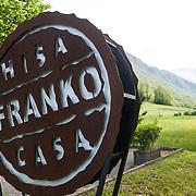Kobarid - Hiša Franko. L'esterno del ristorante