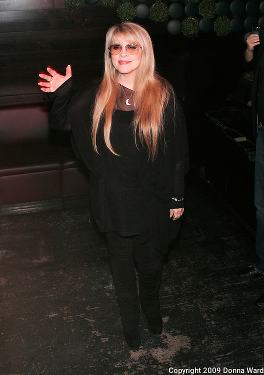 Singer Stevie Nicks poses at the listening party for her latest CD 'The Soundstage Sessions' to benefit LIFEbeat Aids at Greenhouse in New York City, USA on April 2, 2009.