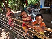 Laos, Champasak Province. Ban Tomo. Villagers.