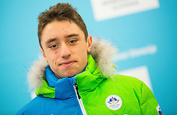 Erik Raduha during presentation of Slovenian Young Athletes before departure to EYOF (European Youth Olympic Festival) in Vorarlberg and Liechtenstein, on January 21, 2015 in Bled, Slovenia. Photo by Vid Ponikvar / Sportida
