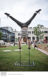 Wellington Youth Circus perform at the Santa Party in Civic Square.