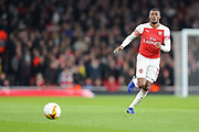 Arsenal midfielder Ainsley Maitland-Niles (15) during the Europa League semi-final leg 1 of 2 match between Arsenal and Valencia CF at the Emirates Stadium, London, England on 2 May 2019.