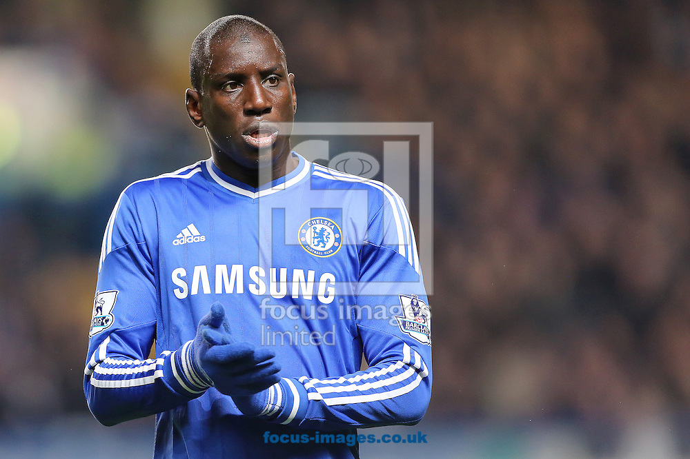 Picture by Richard Calver/Focus Images Ltd +447792 981244<br /> 01/12/2013<br /> Goalscorer, Demba Ba of Chelsea during the Barclays Premier League match against Southampton at Stamford Bridge, London.