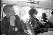 George on a Bus, London, UK, 1986.