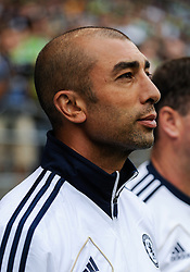 July 18, 2012: CenturyLink Field, Seattle, WA: Chelsea FC head coach Roberto Di Matteo the World Football Challenge. Chelsea FC defeated the Seattle Sounders 4-2.
