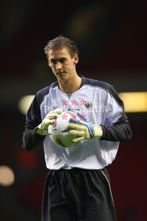LIVERPOOL, ENGLAND - SUNDAY, APRIL 9th, 2006: Manchester City's goalkeeper Laurence Matthewson during the FA Youth Cup Final 1st Leg match at Anfield. (Pic by David Rawcliffe/Propaganda)