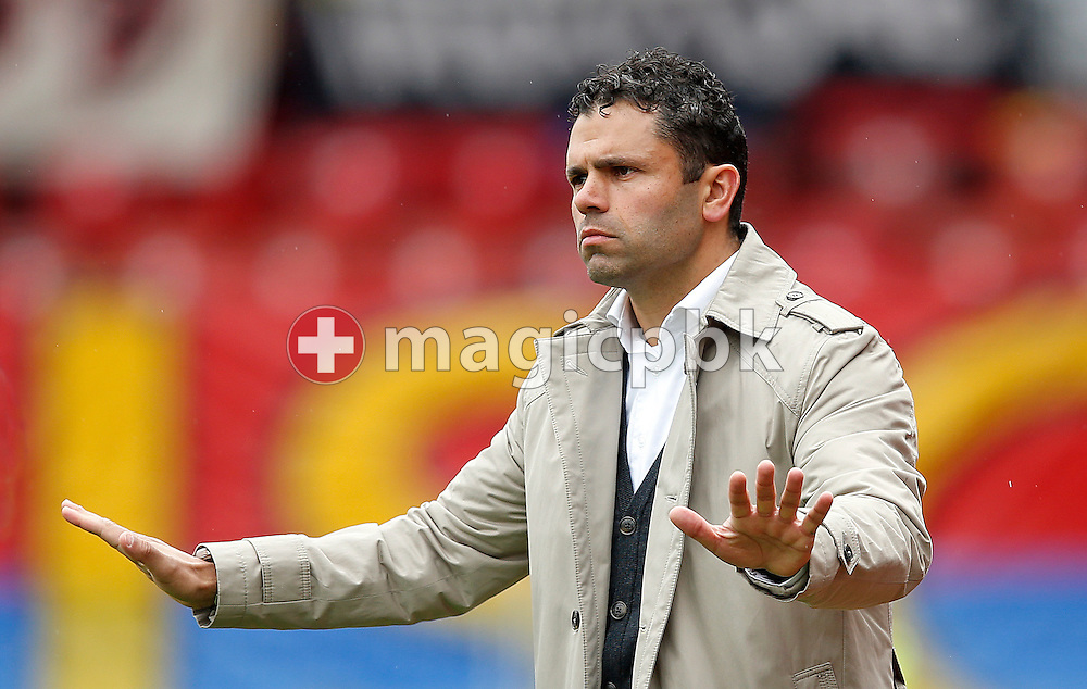 Grasshopper Club Zuerich Cheftrainer Ulrich (Uli) Forte reacts during the RAIFFEISEN Super League (National League A) soccer match between Grasshopper Club Zuerich (GCZ) and FC Basel (FCB) at the Letzigrund stadium in Zurich, Switzerland, Sunday, May 26, 2013. (Photo by Patrick B. Kraemer / MAGICPBK)