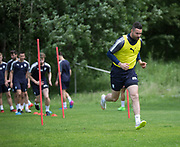 Dundee&rsquo;s Marcus Haber during the warm up - Dundee FC pre-season training at Michelin Grounds, Dundee, Photo: David Young<br /> <br />  - &copy; David Young - www.davidyoungphoto.co.uk - email: davidyoungphoto@gmail.com