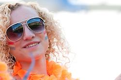 10-05-2012 VOETBAL: UEFA EK-17 NEDERLAND - POLEN: LENDAVA<br /> Nederland speelt 0-0 tegen Polen en plaatst zich voor de halve finale / Fans of Netherlands during the UEFA European Under-17 Championship Group A match<br /> ©2012-FotoHoogendoorn.nl/Erik Kavas