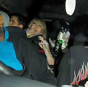 03.APRIL.2007. LONDON<br /> <br /> NOEL FIELDING AND CHRISTOPHER PARKER LEAVING PEACHES GELDOF'S 18TH FANCY DRESS BIRTHDAY PARTY.<br /> <br /> BYLINE: EDBIMAGEARCHIVE.CO.UK<br /> <br /> *THIS IMAGE IS STRICTLY FOR UK NEWSPAPERS AND MAGAZINES ONLY*<br /> *FOR WORLD WIDE SALES AND WEB USE PLEASE CONTACT EDBIMAGEARCHIVE - 0208 954 5968*