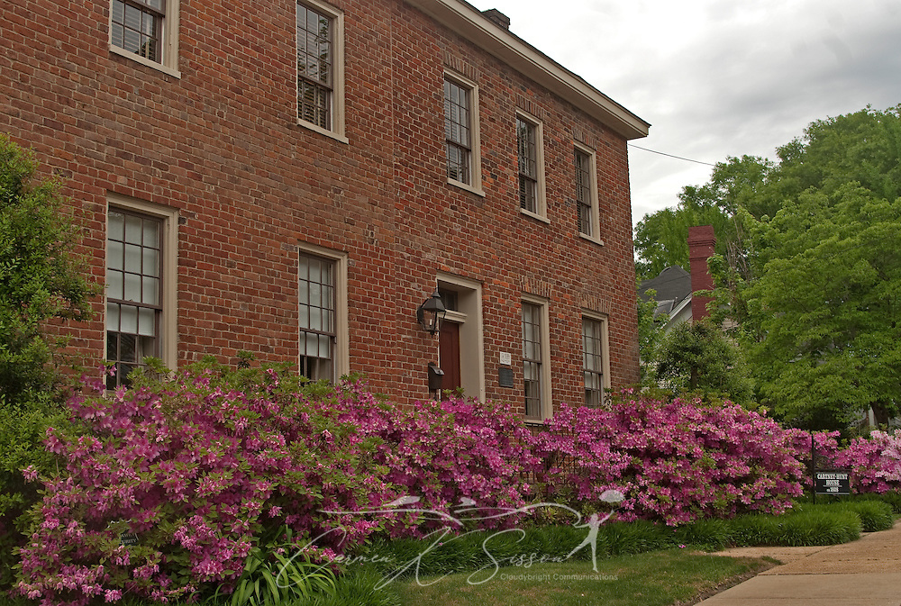Azaleas bloom in front of the Cartney-Hunt House in downtown Columbus, Miss. April 19, 2010. The bed and breakfast was founded in 1828 and is built in the Federal style. (Photo by Carmen K. Sisson/Cloudybright)