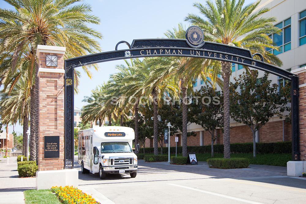 Schmid Gate at Chapman University in Orange County California